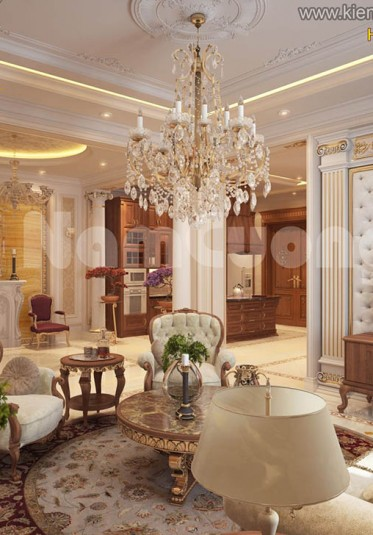 Thiết kế nội thất biệt thự Pháp tại Sài Gòn với vẻ đẹp đẳng cấp - NTBTP 003