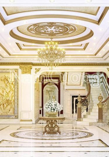 Thiết kế sảnh biệt thự Pháp đẹp ấn tượng tại Sài Gòn - NTBTP 005
