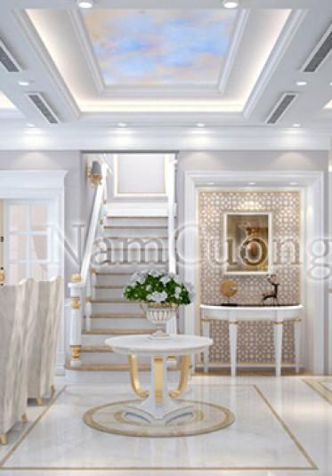 Mẫu nội thất khách bếp đẹp cho biệt thự tân cổ điển - NTKBCD 033
