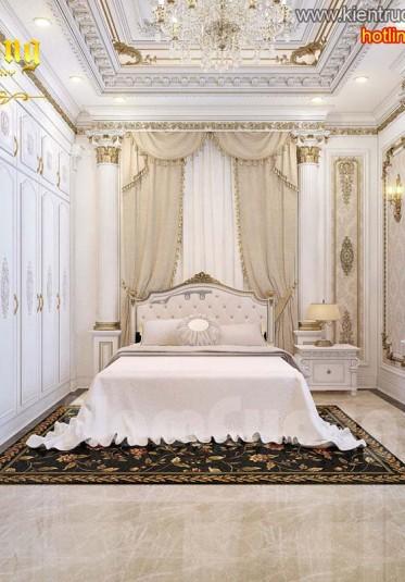 Thiết kế nội thất phòng ngủ tân cổ điển ấn tượng tại Sài Gòn - NTNTCD 034