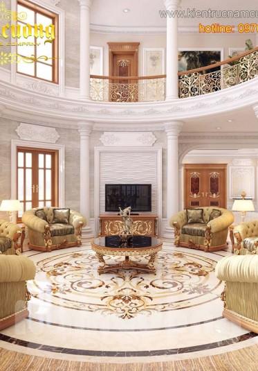 Thiết kế nội thất phòng khách đẹp kiểu Pháp tại Hải Phòng - NTP 002