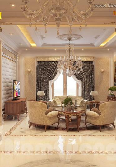 Thiết kế nội thất phòng khách tân cổ điển tại Hải Phòng - NTTCD 003