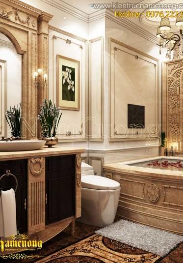 Những mẫu thiết kế nội thất phòng WC đẹp phong cách tân cổ điển - WCCD 004