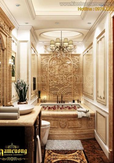Những mẫu nội thất phòng WC đẹp phong cách tân cổ điển