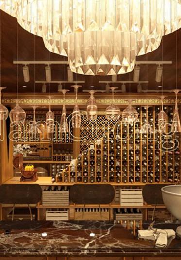 Mẫu thiết kế hầm rượu - quầy bar sang trọng, đẳng cấp tại Hải Phòng - HRCD 001