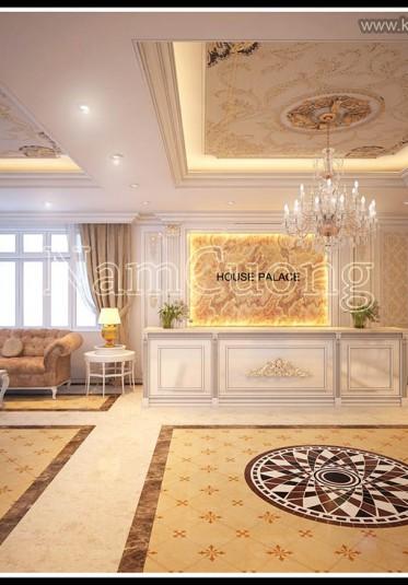Mẫu thiết kế sảnh khách sạn cổ điển sang trọng tại Sài Gòn - NTSKS 003