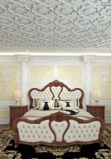 Mẫu phòng ngủ khách sạn đẹp phong cách cổ điển - NTKSCD 004