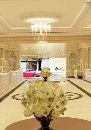 Ấn tượng với mẫu thiết kế sảnh khách sạn cổ điển Pháp sang trọng - NTKSCD 009