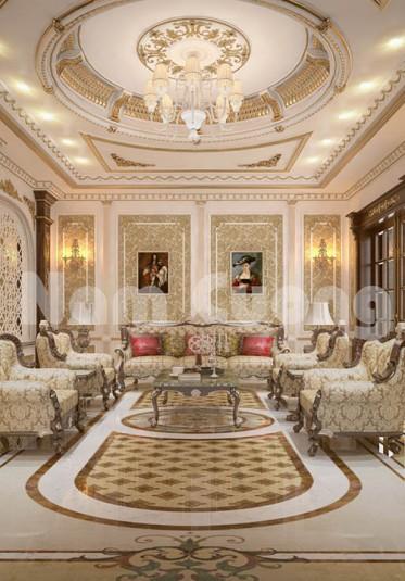 Mẫu thiết kế nội thất phòng khách tân cổ điển đẹp - NTPKCD 064
