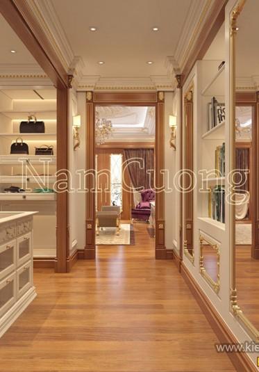 Thiết kế phòng thay đồ biệt thự tân cổ điển tại Quảng Ninh