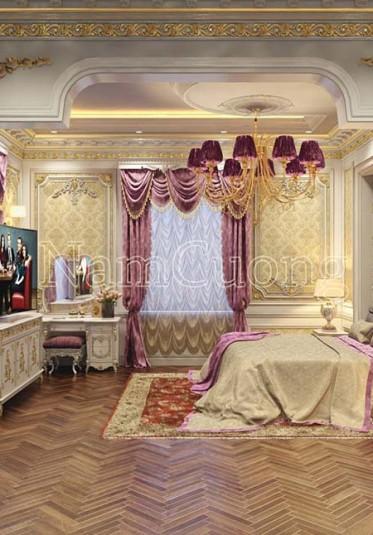 Không gian phòng ngủ đẹp phong cách cổ điển Pháp tại Sài Gòn - NTNCD 067