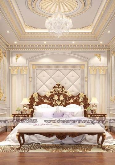 Những mẫu phòng ngủ cổ điển quý phái, sang trọng cho biệt thự - NTNTCD 069