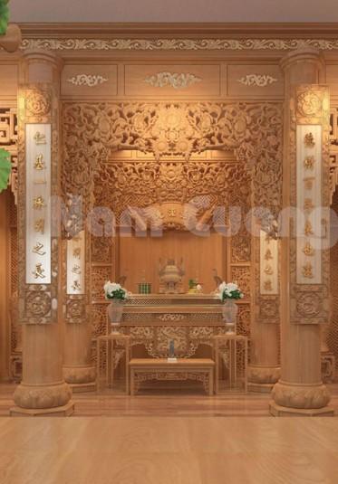 Những mẫu nội thất phòng thờ  cho biệt thự tân cổ điển - NTPTCD  003