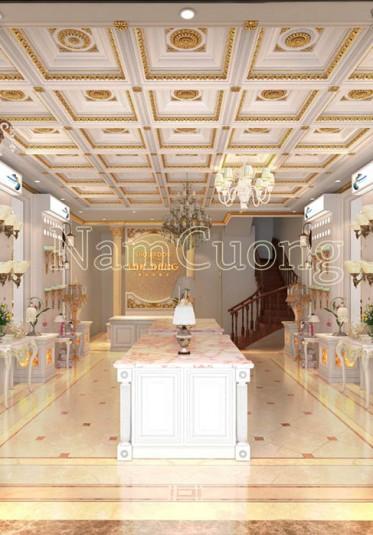 Mẫu thiết kế nội thất showroom đèn trang trí đẹp tại Nam Định