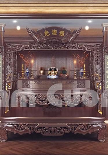 Hơn 20 mẫu thiết kế nội thất phòng thờ đẹp chuẩn Á Đông