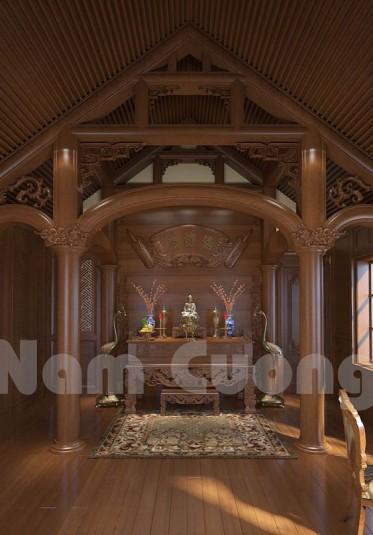 Gợi ý những mẫu thiết kế phòng thờ đẹp của Nam Cường