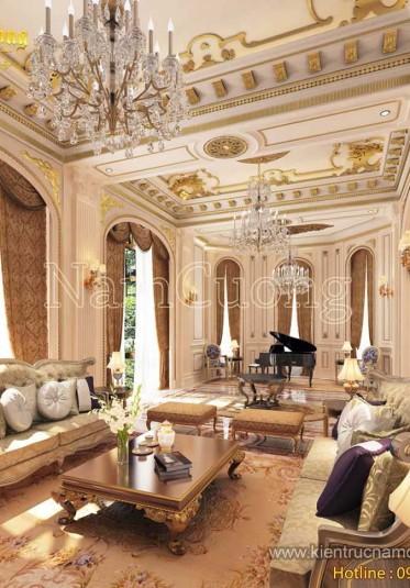 Các mẫu thiết kế phòng khách cổ điển ấn tượng