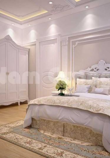 Mẹo thiết kế phòng ngủ tân cổ điển màu trắng