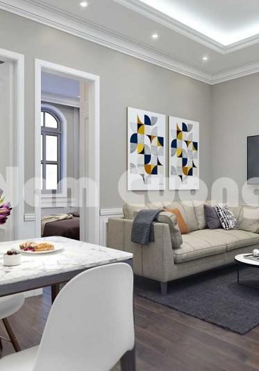 Mẫu thiết kế bếp và phòng khách chung cư siêu ấn tượng