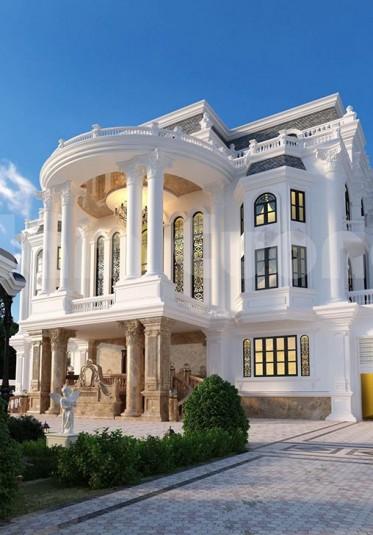 Thiết kế biệt thự mái mansard kiến trúc Pháp