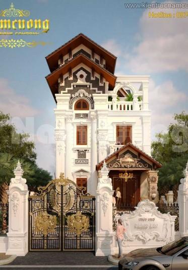 Những mẫu thiết kế biệt thự Pháp với gam màu trắng sang trọng