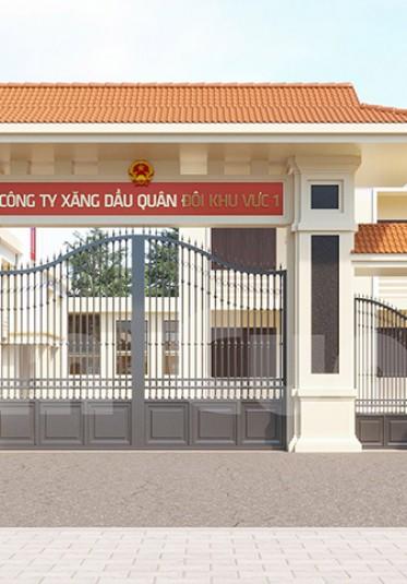 Mẫu thiết kế cổng doanh trại quân đội đạt chuẩn