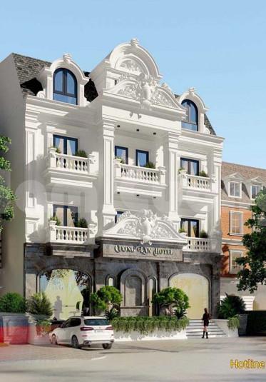 Mẫu thiết kế khách sạn mặt tiền 10m kiểu Pháp siêu ấn tượng
