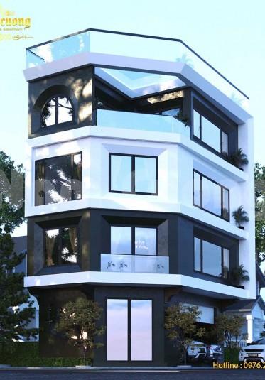 Thiết kế nhà góc 2 mặt tiền hiện đại