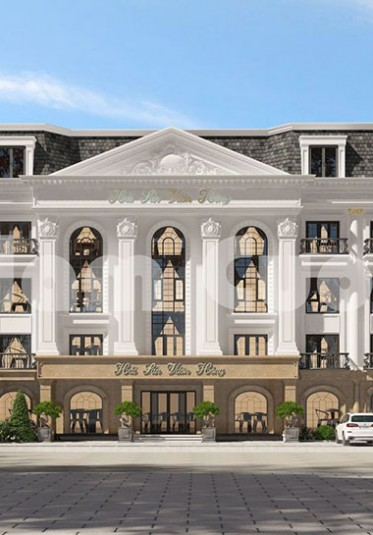 Mẫu thiết kế nhà hàng 5 tầng tân cổ điển