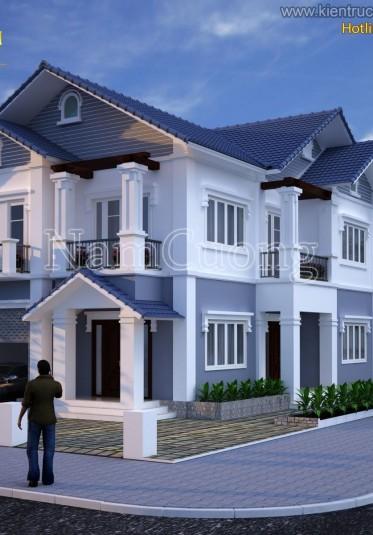 Thiết kế biệt thự mini 2 tầng chi phí thấp cho vợ chồng trẻ