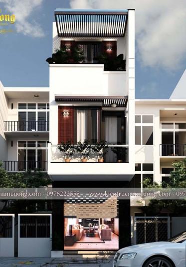Thiết kế nhà phố hiện đại 80m2 đẹp