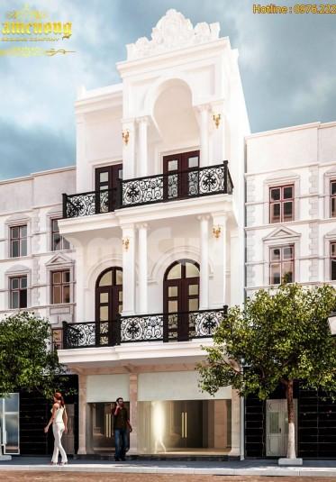 Mẫu thiết kế nhà phố 3 tầng tân cổ điển mặt tiền 5m