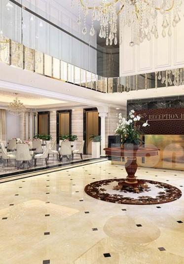 Mẫu thiết kế nội thất sảnh khách sạn đẹp
