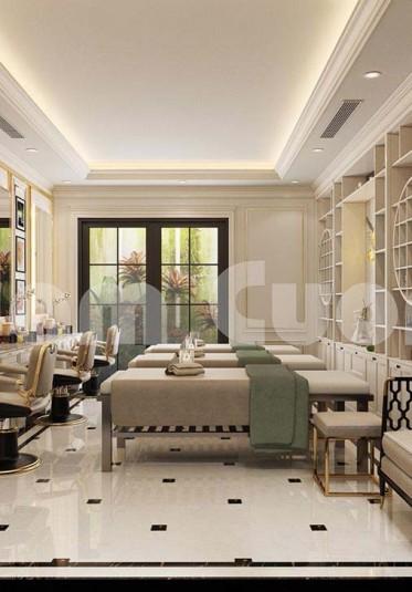 Thiết kế spa đẹp kết hợp nội thất khu làm nail đẹp