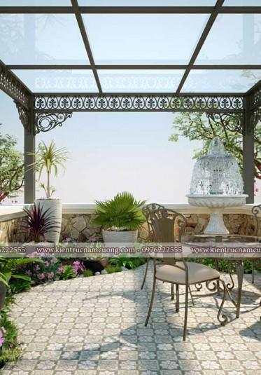 Thiết kế tiểu cảnh sân vườn cho biệt thự hiện đại đẹp
