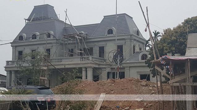 Ảnh thi công biệt thự tân cổ điển tại Vĩnh Bảo - Hải Phòng