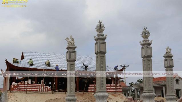 Ảnh thực tế thi công quần thể nhà thờ họ tại Ninh Giang - Hải Dương