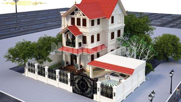 Xây nhà trọn gói công trình biệt thự tân cổ điển 3 tầng tại Vĩnh Bảo - Hải Phòng