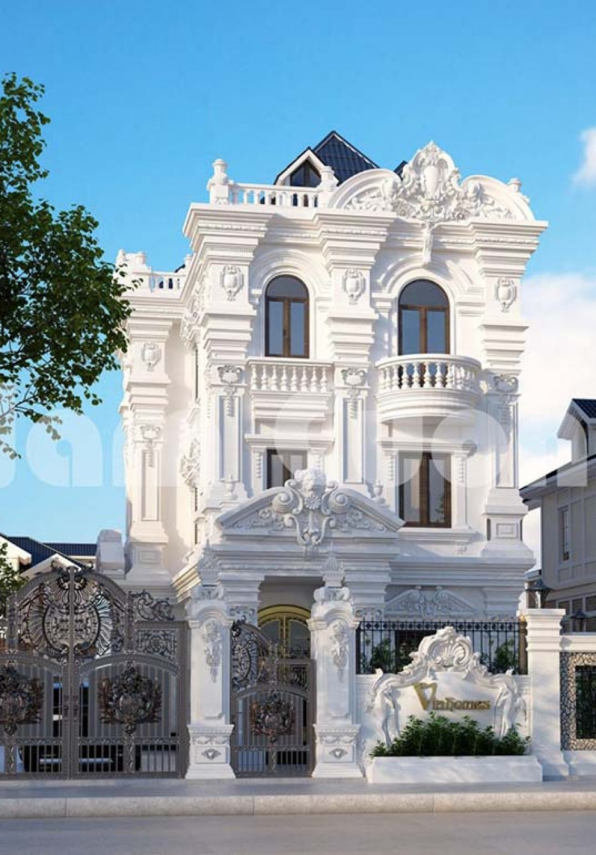 Thiết kế biệt thự 3 tầng cổ điển kiến trúc Pháp