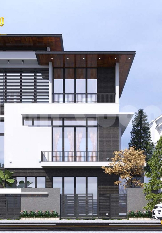 Thiết kế biệt thự 3 tầng hiện đại 120m2