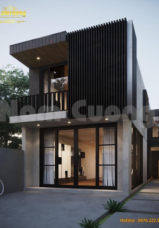 Mẫu thiết kế biệt thự hiện đại 2 tầng có bể bơi