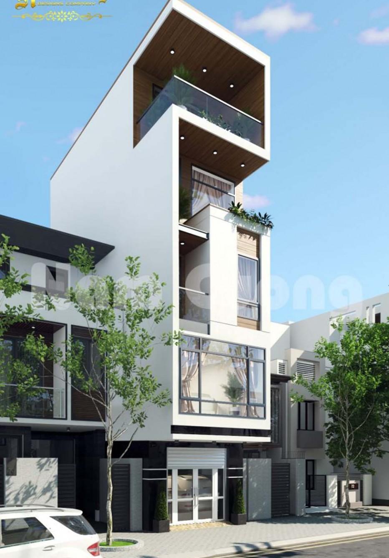 Thiết kế nhà đẹp hiện đại 5 tầng tại Hải Phòng
