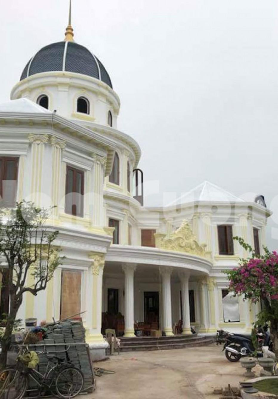 Thi công trọn gói hạng mục công trình biệt thự lâu đài tại Thái Bình