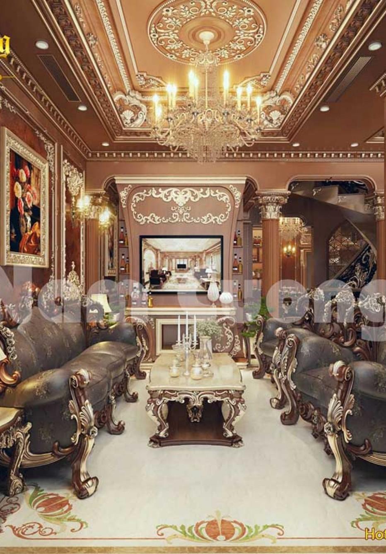 Bản vẽ thi công mặt bằng nội thất biệt thự lâu đài của anh Đức tại Bắc Ninh
