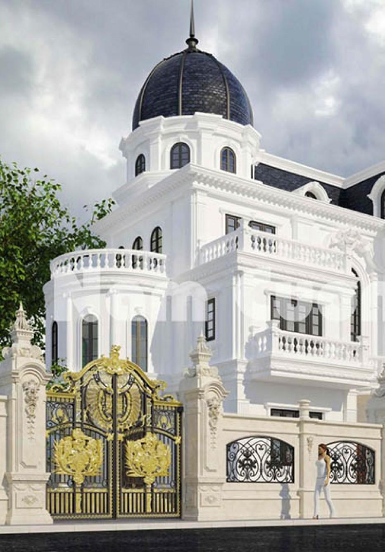 Thi công mẫu biệt thự lâu đài đẹp tại Thái Bình