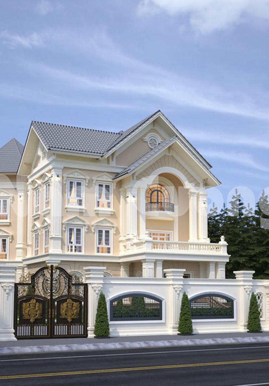 Thiết kế biệt thự lâu đài 3 tầng đẳng cấp