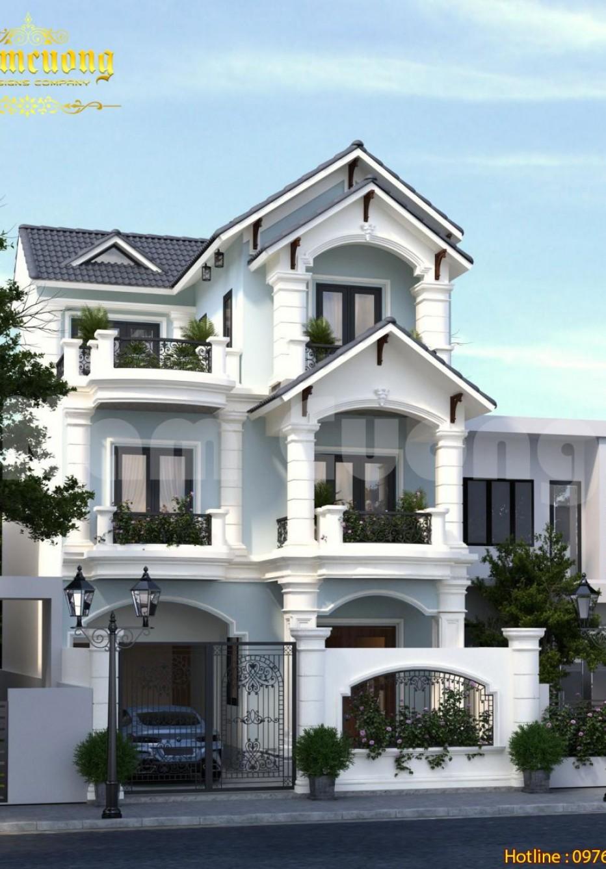 Chiêm ngưỡng mẫu thiết kế biệt thự Pháp 3 tầng đẹp tại Quảng Ninh