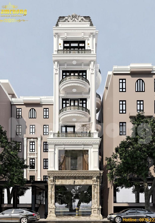 Hoàn thành thiết kế nội-ngoại thất nhà ống kiểu Pháp tại Hải Phòng