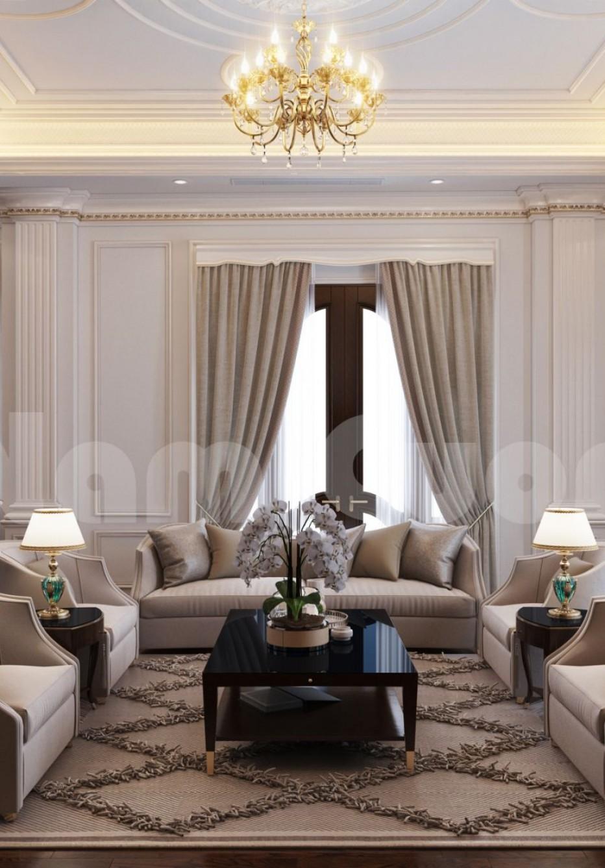 Mẫu thiết kế nội thất nhà ống tân cổ điển đẹp trong năm 2020-CĐT cô Tính