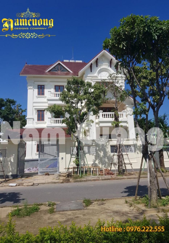 Hoàn thành thi công biệt thự tân cổ điển tại Quảng Bình